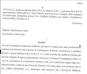 La sentenza CREA (ACEA)