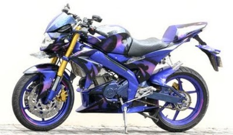 Gambar Modifikasi Motor Yamaha Vixion New Terbaru Ungu Moge title=