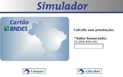 CARTÃO BNDS SIMULADOR | WWW.CARTAOBNDS.GOV.BR