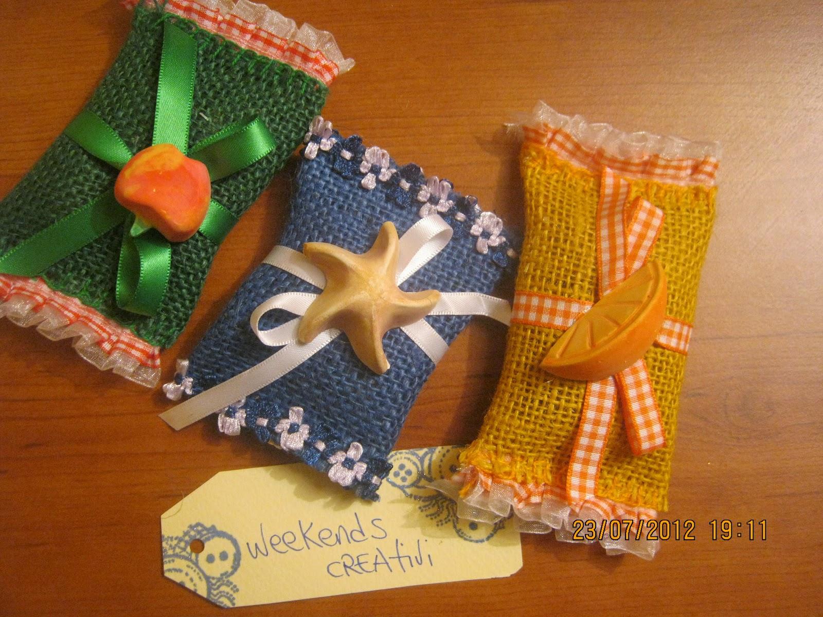 Week ends creativi sacchetti di juta porta confetti o - Porta pout pourri ...