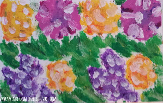 Gerber Daisies- finger painting -write 31 days