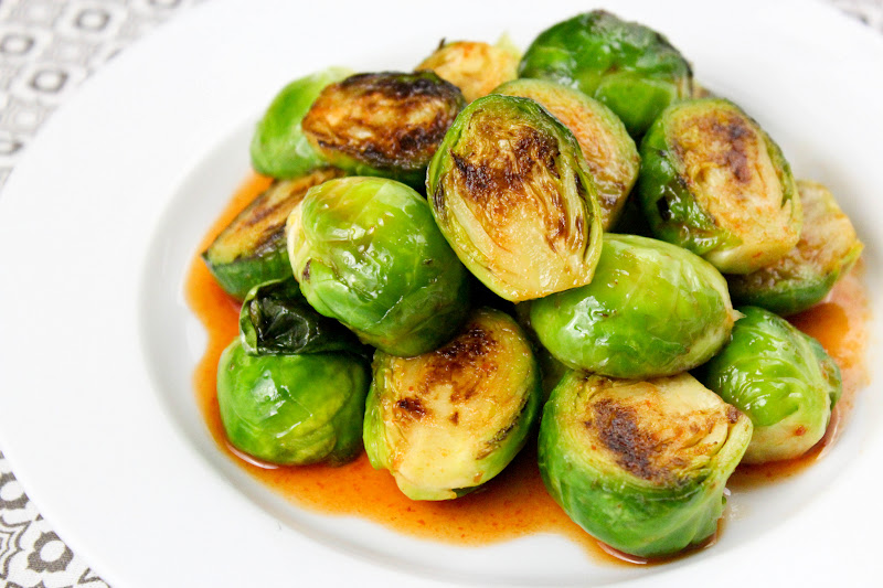 From Dahlias to Doxies: Brussels Sprouts with Sriracha Honey and Lime