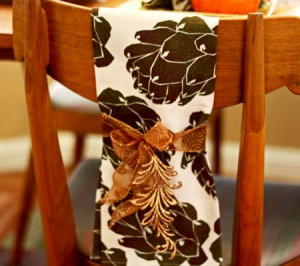 Tea Towel over Chair by Pear Tree Greetings