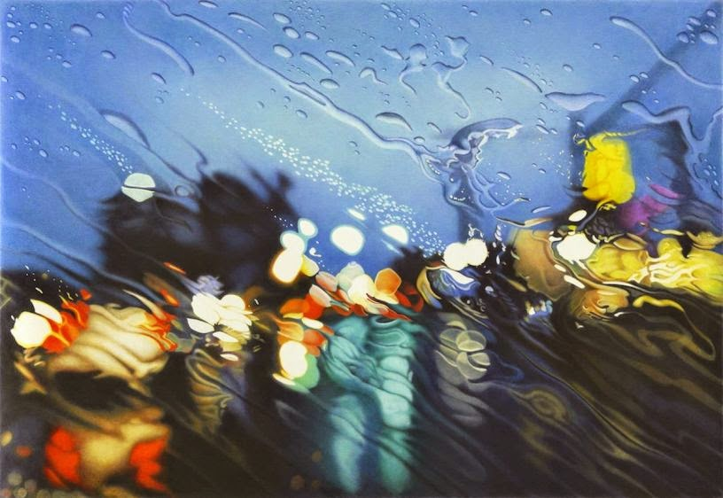Rainscapes: Artist Elizabeth Patterson Creates Hyperrealistic Rainy Windshield Drawings to Make You Say Awesome