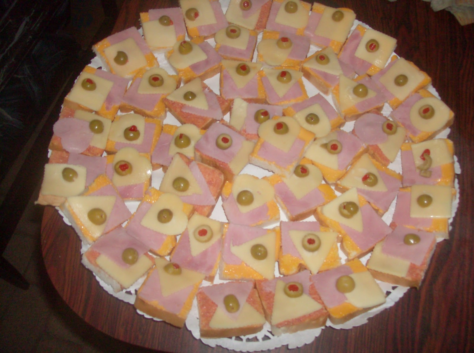 Christian rodr guez tortas y gelatinas decoradas for Canape de jamon y queso