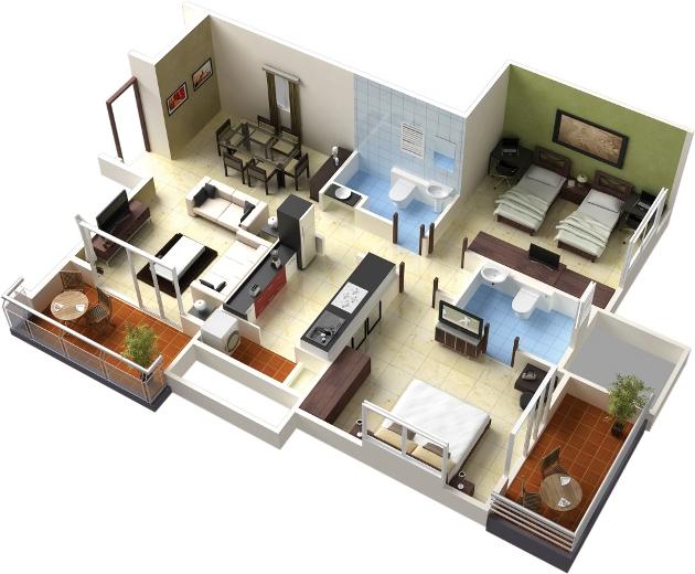 Desain Rumah Idaman Minimalis 3D Inspirasi Impian Rumah Masa Depan