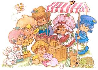 Rosita fresita con sus amigas