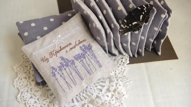 Ароматные саше с лавандой в стиле прованс - подарки гостям, сувениры на свадьбу