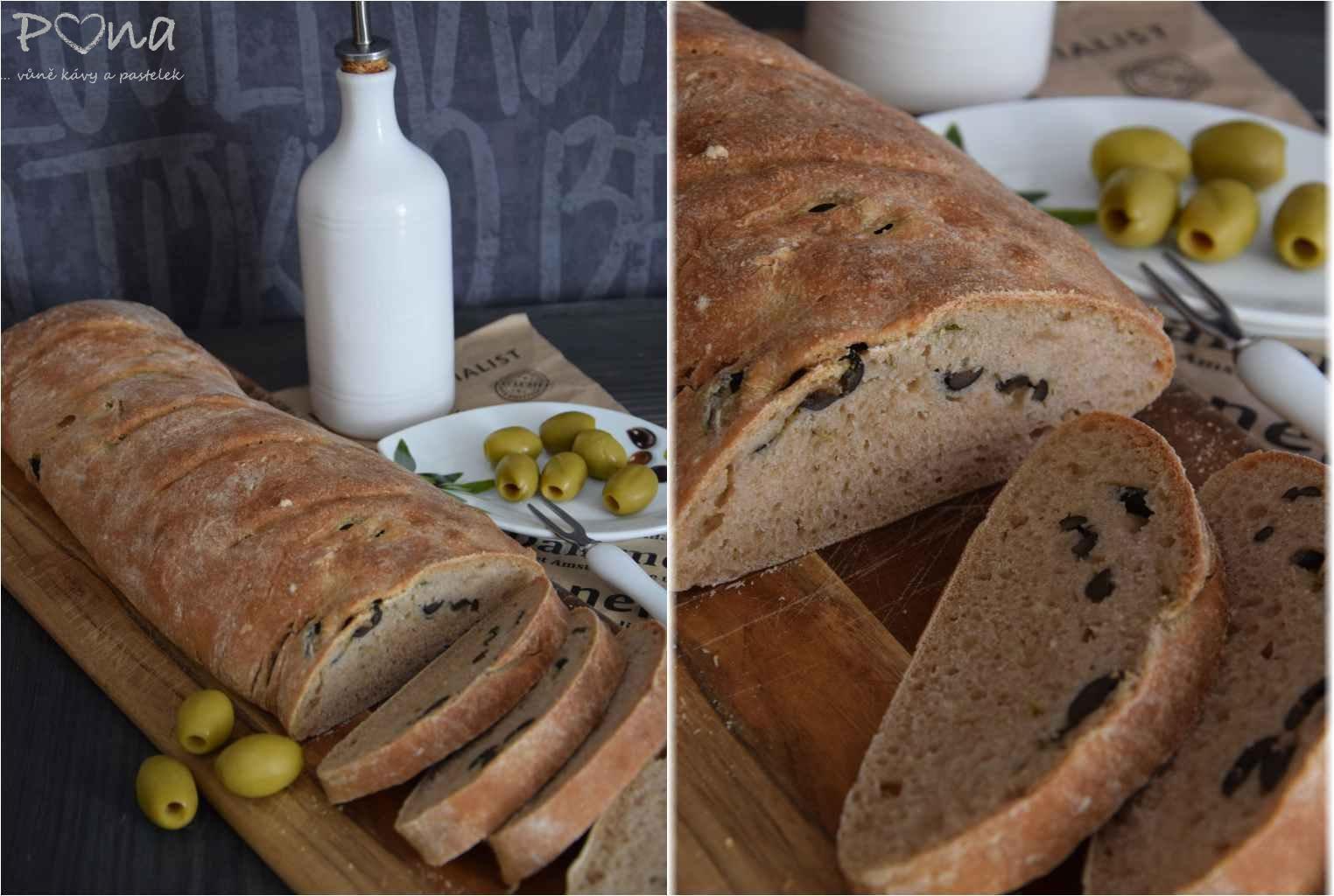 Olivový chléb s tymiánem