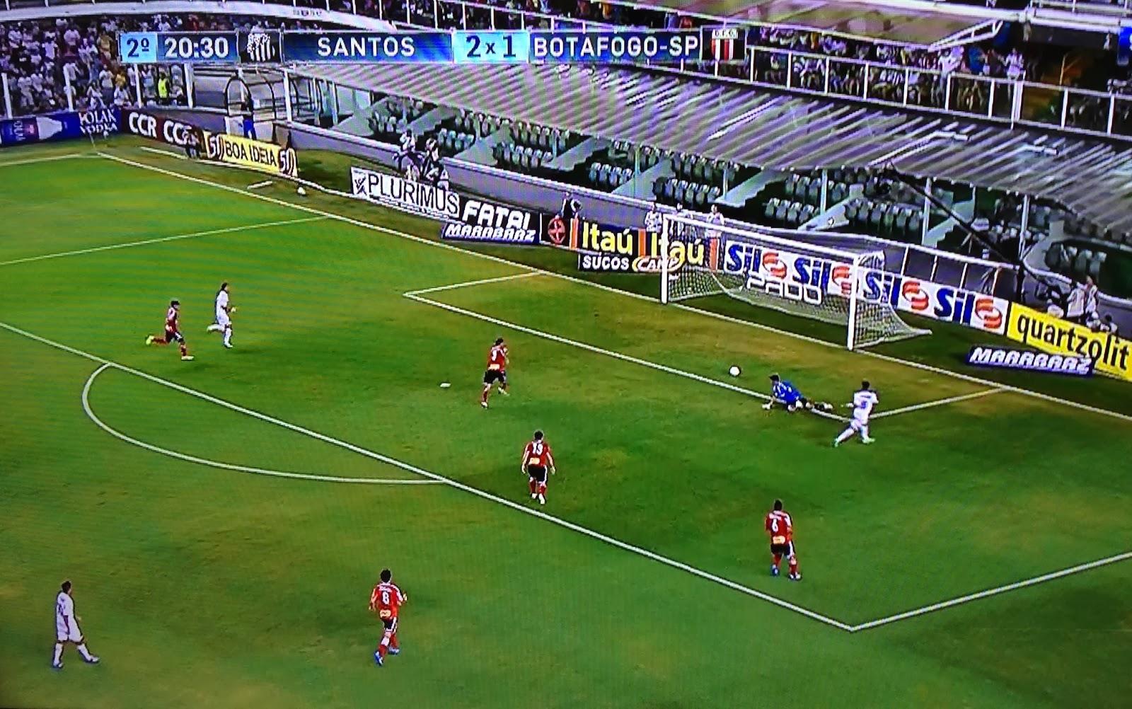 Gol de Gabigol contra o Botafogo/SP