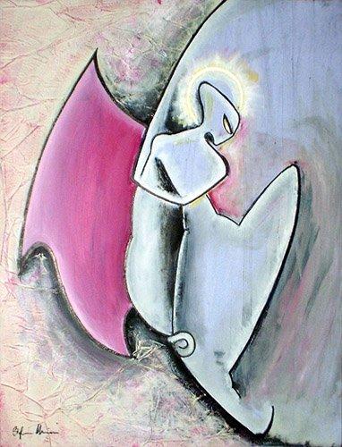 alieno danza universale dipinti orme magiche quadro disegno pittura spirituale arte zen