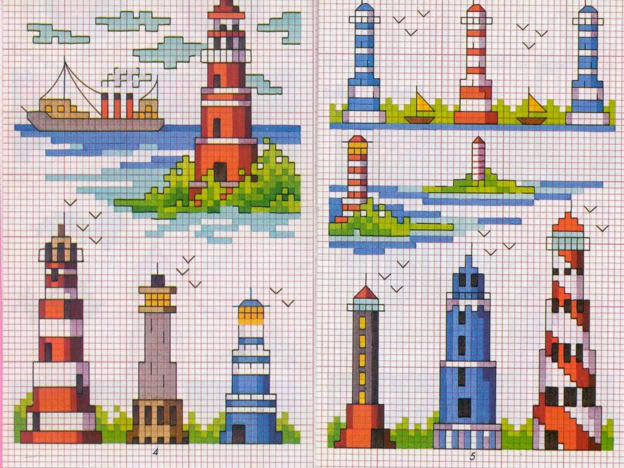 Схемы вышивок крестом маяк 886