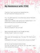 My Rendezvous with Fire Poem. Posted by XPRESSIONS at 02:10