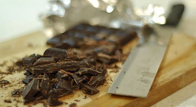 Trufas de chocolate paso 1