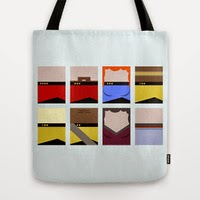 USS Enterprise 1701 D Crew - Star Trek: The Next Generation Tote Bags