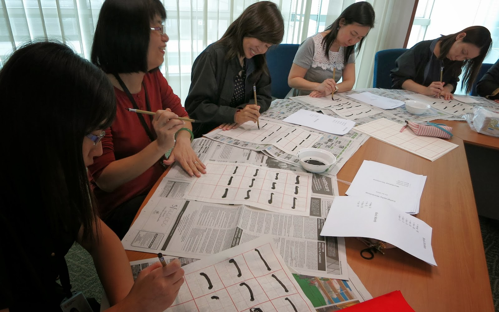 Liew Calligraphy - Chinese Calligraphy Service: Workshop