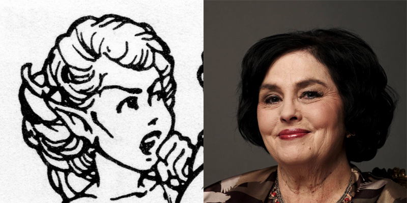 Miss Kay. (Check out how similar the hair and the eyebrows are