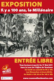 1911. Millénaire de la Normandie. Visue-affiche-expo