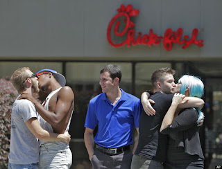 chick-fil-a gay kiss protest