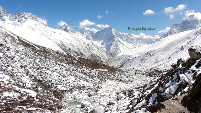 Mountain view to the Gokyo