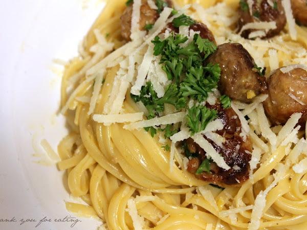 Linguine alla carbonara di salsiccia - Kochen mit zwei Küchenchaoten