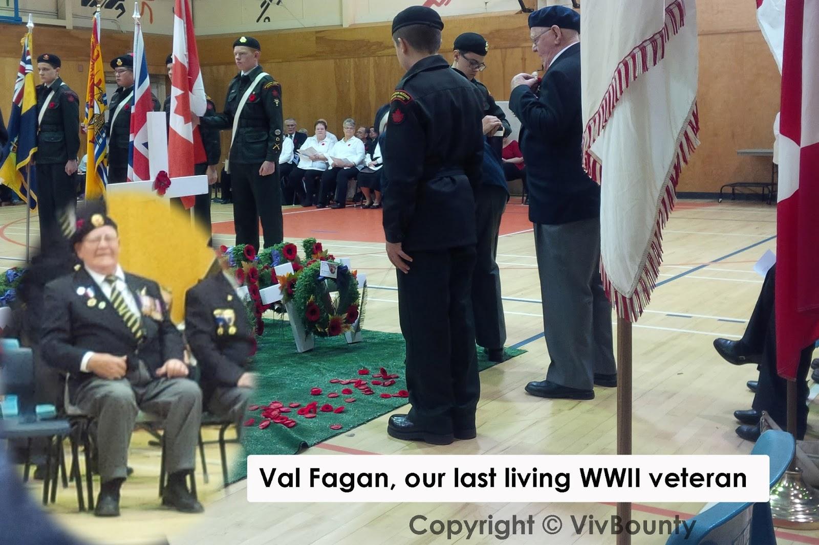 Val Fagan, Port Elgin's last living World War II veteran, VivBounty