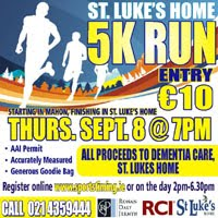 5k race in Cork City...Thurs 8th Sept 2016