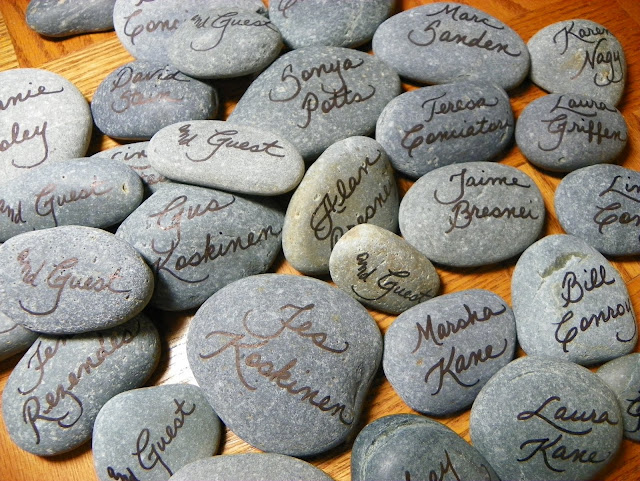 The Personal Touch River Rocks For Place Cards