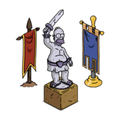 Barbarian Statue & Banners