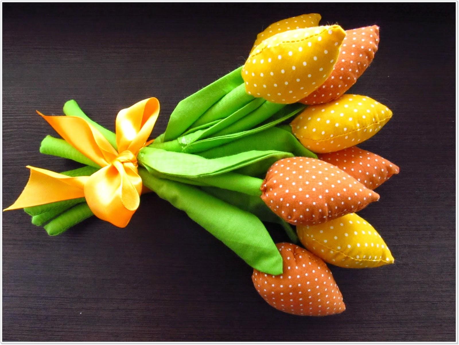 Tulipany z bawełny c.d.