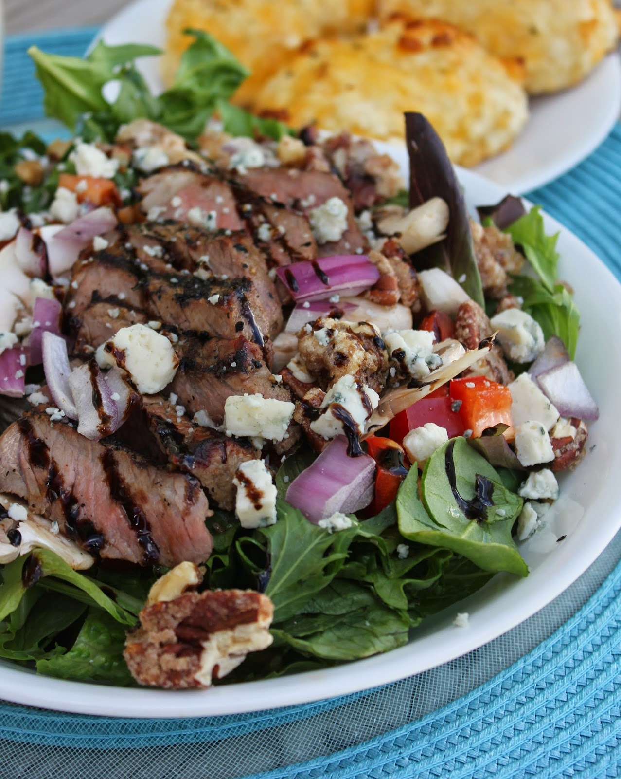 Favorite Restaurants, Brio Tuscan Grill, Recipe:  Salad, Recipe:  Beef, main dish salads, gorgonzola, Sliced Steak Salad, creamy horseradish dressing