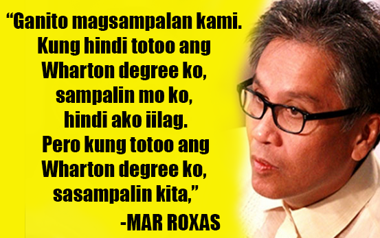Sampal game Duterte vs Roxas