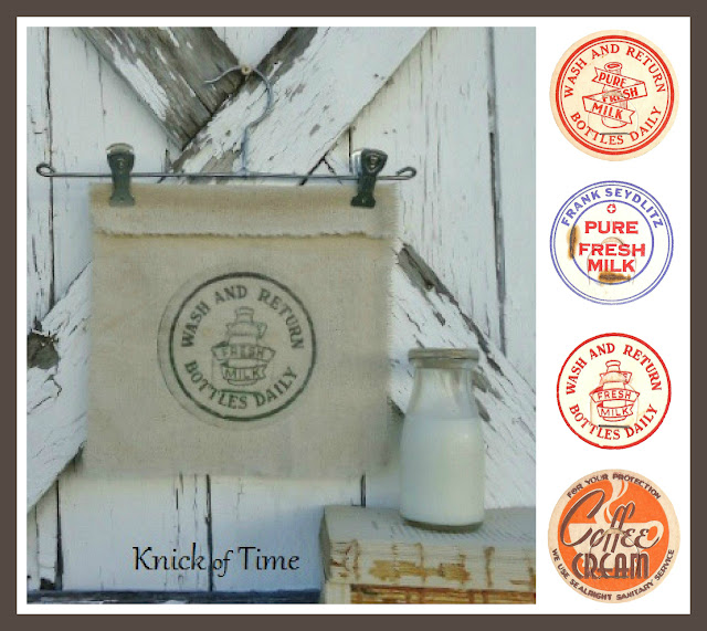 antique milk cap royalty free graphics free printables via Knick of Time