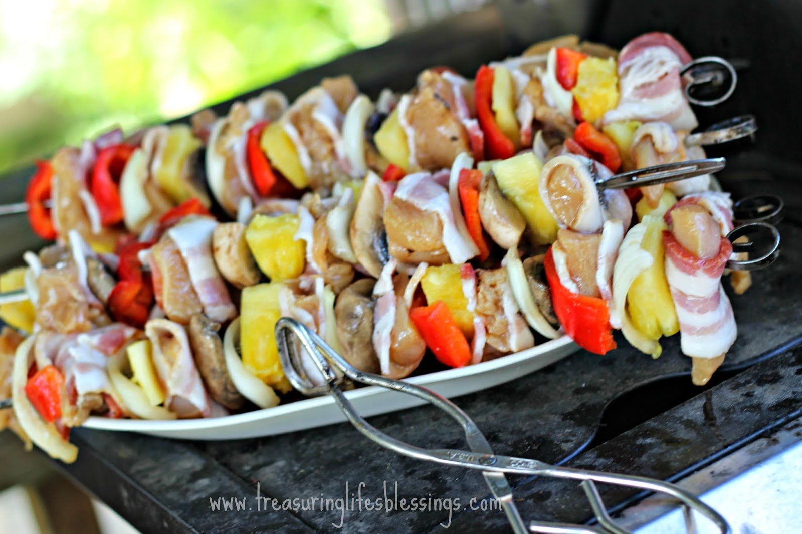"""is for """"Grilled Chicken and Bacon Shish Kabobs"""" - Treasuring Life ..."""