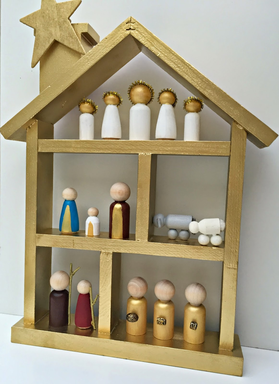 Kent heartstrings peg doll nativity set diy for Nativity crafts to make