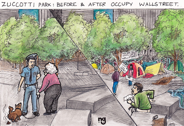 conservative political cartoons, zuccotti park, occupy wall street