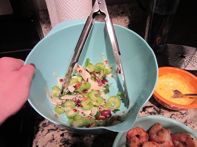 Blue Apron Celery Parmesan Salad