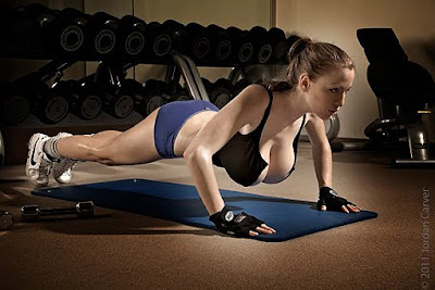 Jordan Carver workout