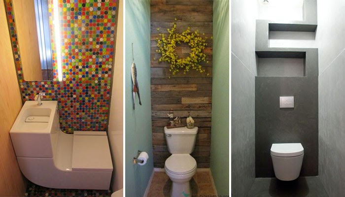 12 very small toilets designed for tiny spaces interior for Small wc room design
