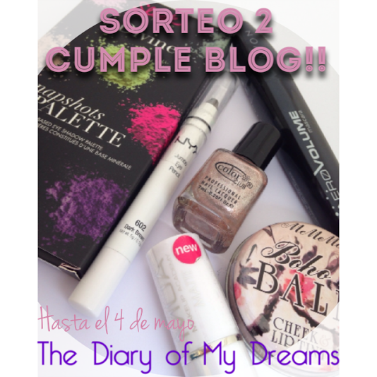 sorteo 2º cumpleblog the diary of my dreams