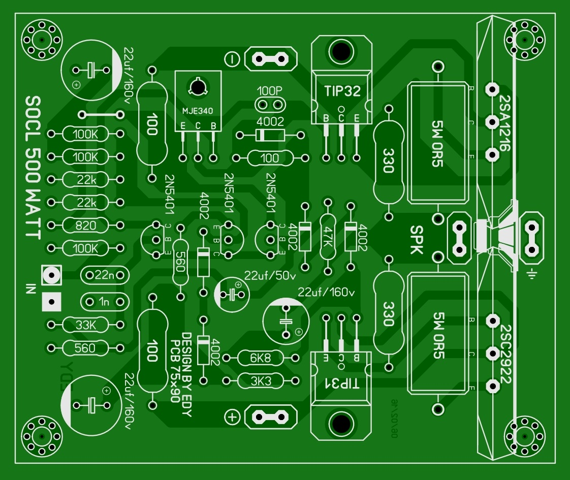 500watt power amplifier circuit electronic circuit - This Power Amplifier Circuit Is A 1600w Mono Circuit That Uses...