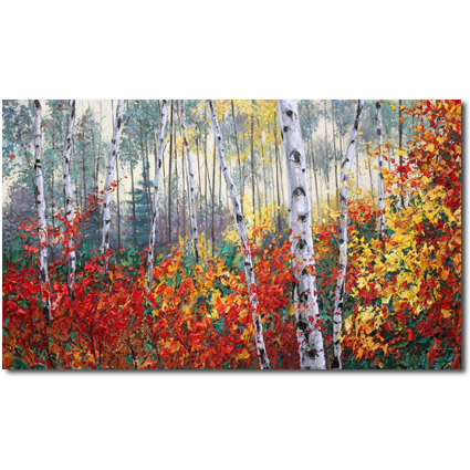 Aspen Art and Birch Tree Paintings by Jennifer Vranes