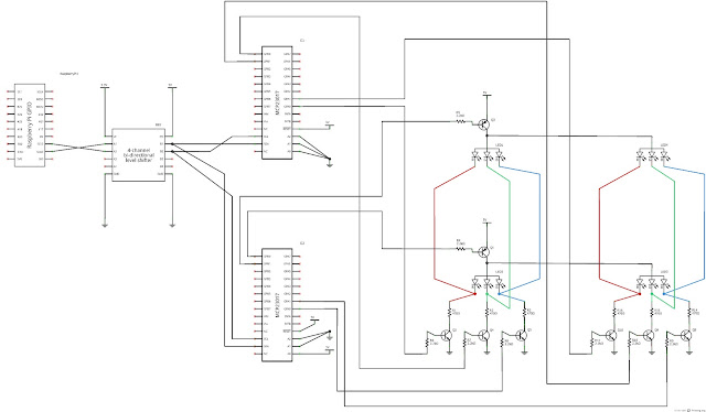 raspberry pi experimenter  electronic diagram for portion