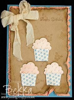 Vintage Style Cupcake Card