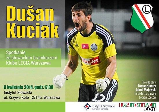 Zaproszenie na spotkanie z Dusanem Kuciakiem w Instytucie Słowackim