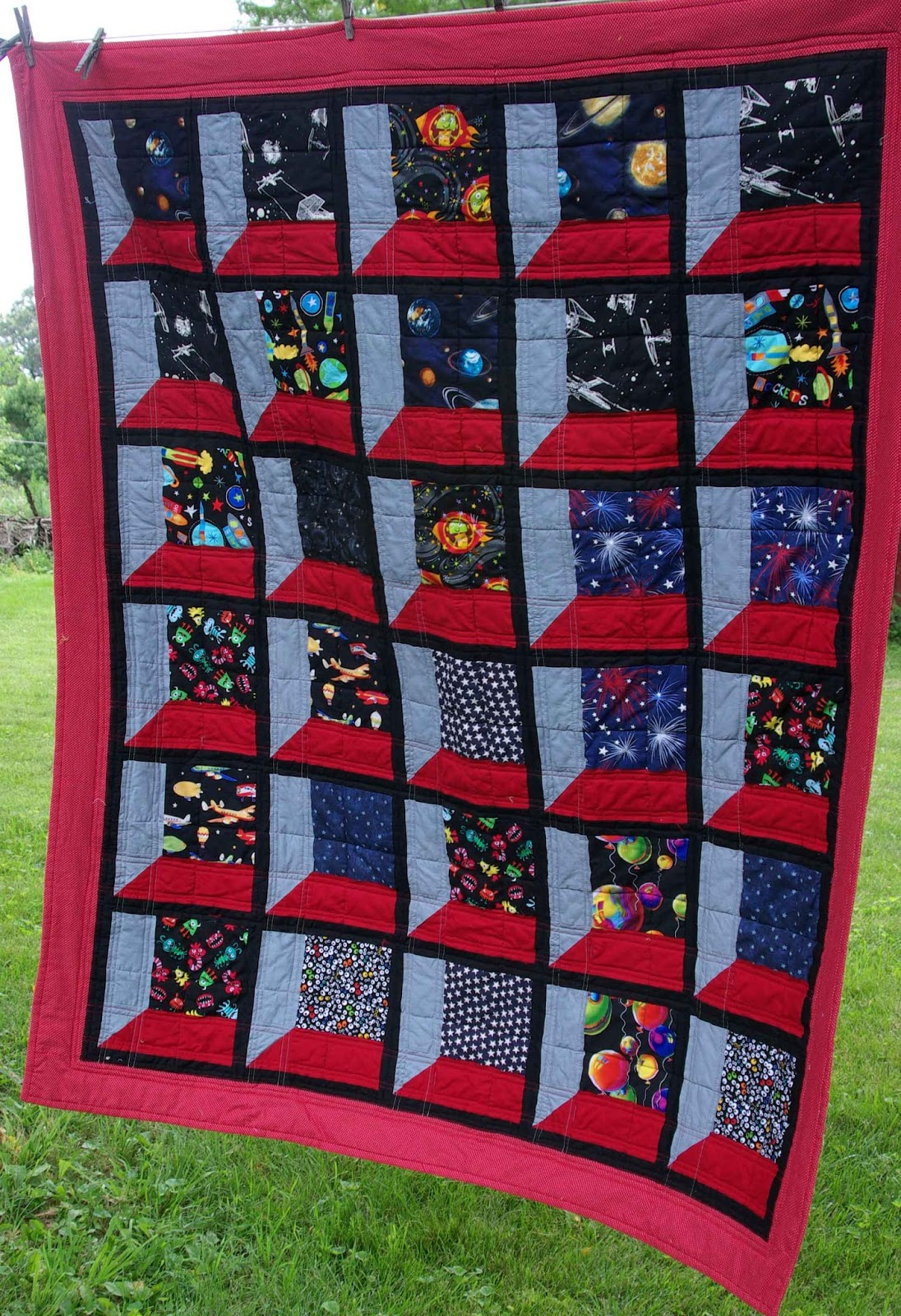 Sane crazy crumby quilting what 39 s outside your attic for Window quilt