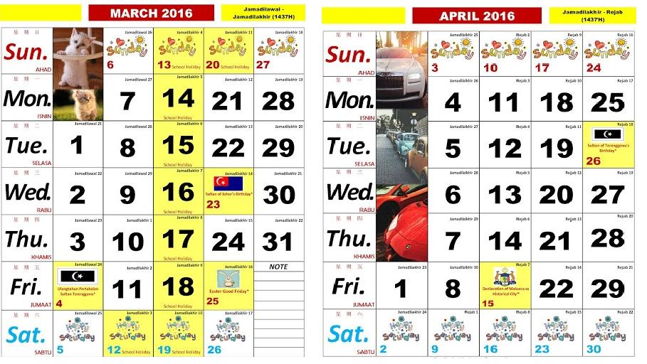 Kalendar Kuda 2018 Malaysia