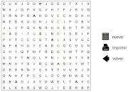 Introducir el tamaño de la sopa de letras (lado del cuadrado en letras) . sopa de letras santillana