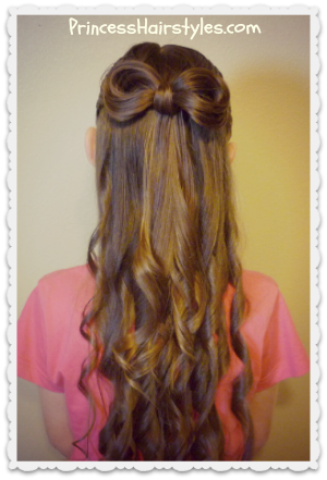 woven hairstyle with bow