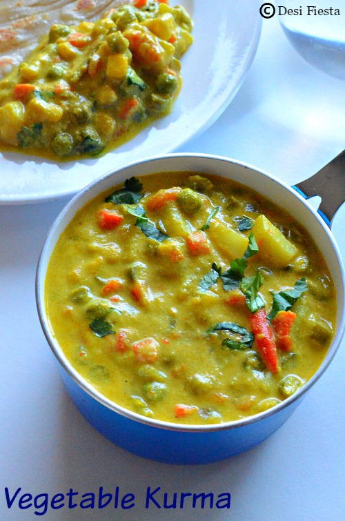 Vegetable Kurma For Chapathi Desi Fiesta : Hotel St...